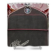 1931 Alfa-romeo Grille Emblem Shower Curtain