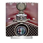 1931 Alfa-romeo Hood Ornament Shower Curtain