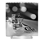 1931 Bentley 4.5 Liter Supercharged Le Mans Hood Emblem -1122bw Shower Curtain