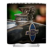 1931 Chevrolet Emblem Shower Curtain
