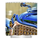 1931 Chrysler Cg Imperial Dual Cowl Phaeton Hood Ornament - Grille Shower Curtain