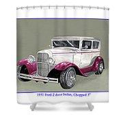 1931 Ford 2 Door Sedan Street-rod Shower Curtain