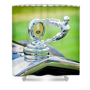 1931 Ford Model A Deluxe Fordor Hood Ornament Shower Curtain
