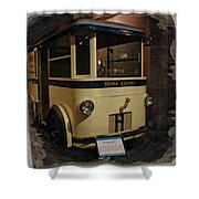 1931 Helms Bakery Truck Square Shower Curtain
