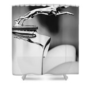 1931 Lincoln K Hood Ornament -1837bw Shower Curtain