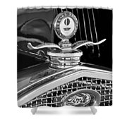 1931 Model A Ford Deluxe Roadster Hood Ornament 2 Shower Curtain