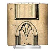 1931 Philco Radio Patent Shower Curtain