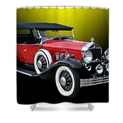 1931 Willys Knight Plaid Side Shower Curtain