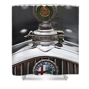 1932 Alfa-romeo Hood Ornament 2 Shower Curtain