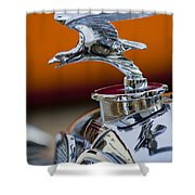 1932 Alvis Hood Ornament 2 Shower Curtain