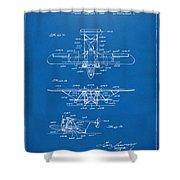 1932 Amphibian Aircraft Patent Blueprint Shower Curtain