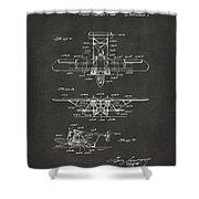 1932 Amphibian Aircraft Patent Gray Shower Curtain