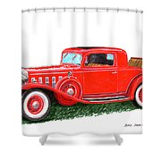 1932 Cadillac Rumbleseat Coupe Shower Curtain
