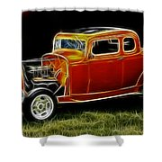 1932 Ford Fenderless Coupe Shower Curtain