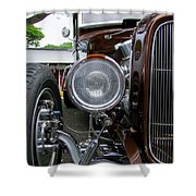 1932 Ford Roadster Head Lamp View Shower Curtain