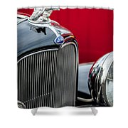 1932 Ford V8 Grille - Hood Ornament Shower Curtain
