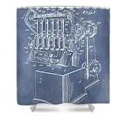 1932 Machine Patent Shower Curtain