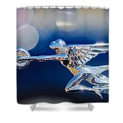 1932 Packard 12 Convertible Victoria Hood Ornament -0251c Shower Curtain