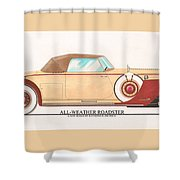 1932 Packard All Weather Roadster By Dietrich Concept Shower Curtain