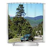 1932 Packard Eight Sedan Cresting Bob Cat Pass Shower Curtain