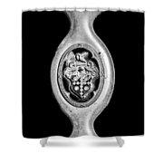 1932 Packard Emblem -1096bw Shower Curtain