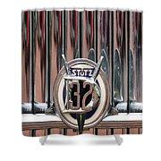 1932 Stutz Dv-32 Super Bearcat Emblem Shower Curtain by Jill Reger