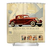 1933 - Buick Coupe Advertisement - Color Shower Curtain