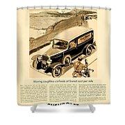 1933 - Chevrolet Commercial Automobile Advertisement - Old Gold Cigarettes - Color Shower Curtain