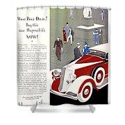 1933 - Hupmobile Sedan Automobile Advertisement - Color Shower Curtain