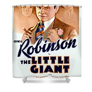 1933 - The Little Giant - Warner Brothers Movie Poster - Edward G Robinson - Color Shower Curtain