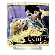 1933 - After Tonight Motion Picture Poster - Constance Bennet - Gilbert Roland - Color Shower Curtain