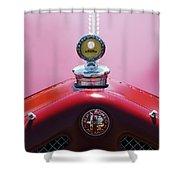 1933 Alfa Romeo P-2 Monza Hood Ornament Shower Curtain