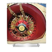 1933 Auburn 12-161a Custom Speedster Spare Tire Emblem Shower Curtain