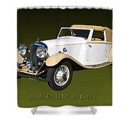 1933 Bentley 3  5  Liter Drop Head Coupe Shower Curtain