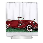 1933 Cadillac Convert Victoria Shower Curtain
