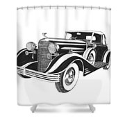 Cadillac Victoria V 16 Convertible Shower Curtain