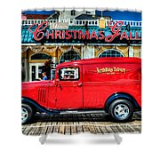 1933 Chevy Delivery Truck Red Shower Curtain