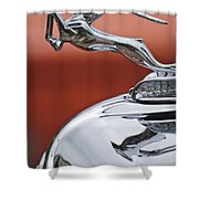 1933 Chrysler Cl Imperial Hood Ornament Shower Curtain