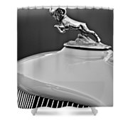 1933 Dodge Ram Hood Ornament 2 Shower Curtain