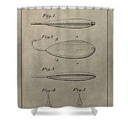 1933 Fish Lure Patent Shower Curtain
