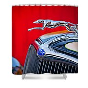 1933 Ford Hood Ornament Shower Curtain