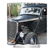 1933 Ford Two Door Sedan Front And Side View Shower Curtain