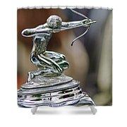 1933 Pierce-arrow 1236 2-door Convertible Coupe Hood Ornament Shower Curtain by Jill Reger