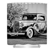 1933 Pontiac -0011bw Shower Curtain