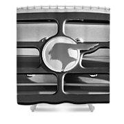 1933 Pontiac Emblem -0467bw Shower Curtain