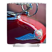 1933 Pontiac Hood Ornament 3 Shower Curtain