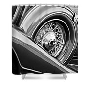 1933 Pontiac Spare Tire -0431bw Shower Curtain