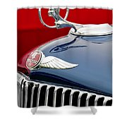 1933 Pontiac Street Rod Hood Ornament Shower Curtain