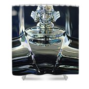 1933 Stutz Dv-32 Hood Ornament 2 Shower Curtain by Jill Reger
