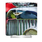 1934 Aston Martin Mark II Short Chassis 2-4 Seater Grille Emblem Shower Curtain